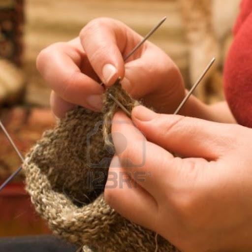 การถักถุงเท้าด้วย Knitting
