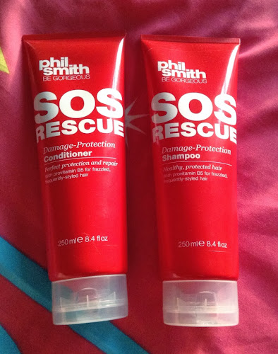 A picture of the bottles of Phil Smith Be Gorgeous SOS Rescue Damage Protection Shampoo and Conditioner