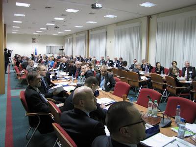 Konferencja zgromadziła grono kilkudziecięciu osób z branży transportu