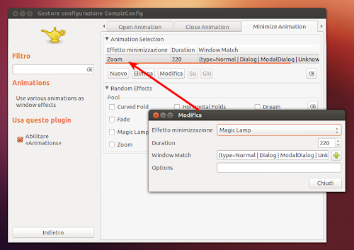 Ubuntu 12.10 -  CCSM - animazioni