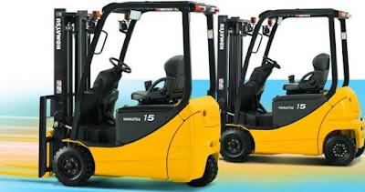 Xe nâng điện 3 bánh Komatsu 1 tấn