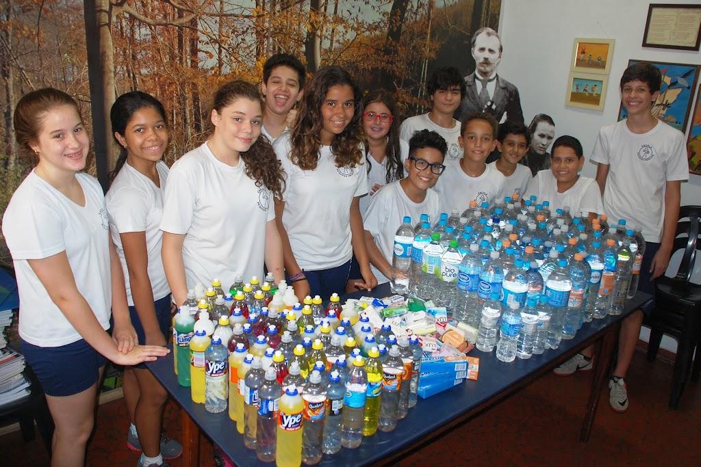 1º dia de aula: Campanha para Itaóca – 6º ao 9º ano – Unidade I – 2014