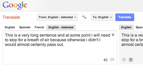 Google Translate Breath