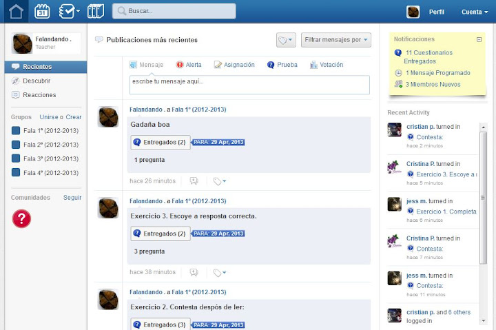 Captura Edmodo