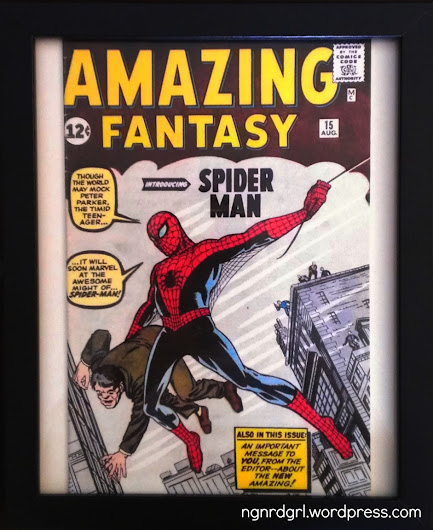 Framed Faux Vintage Comic Book