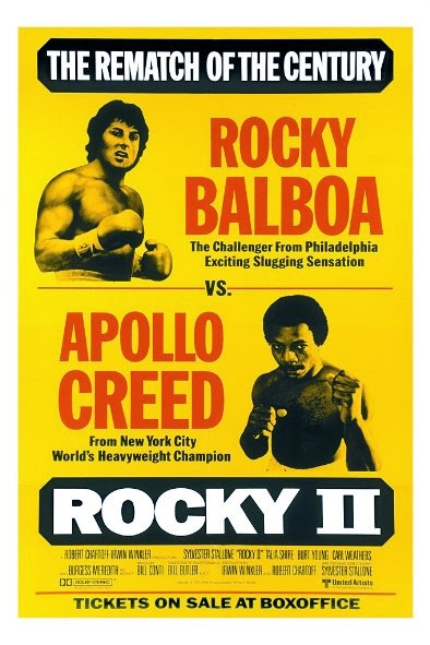 Poster Of Rocky II (1979) Full Movie Hindi Dubbed Free Download Watch Online At Alldownloads4u.Com