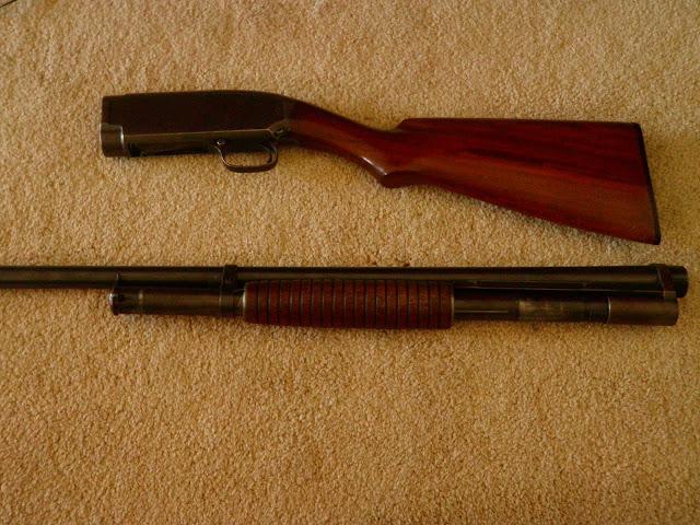 Field strip winchester model 12 shotgun