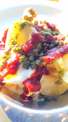 Cheese & Crack Portland's Snack of Potato Chip Nachos with Sauce Mornay and  Pickled Lentils