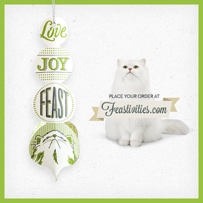 2013 Fancy Feast Holiday Ornament Giveaway (30 Instant Winners!) - Catsparella: 2013 Fancy Feast Holiday Ornament Giveaway (30 Instant