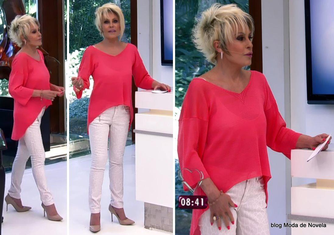 moda do programa Mais Você - look da Ana Maria Braga dia 22 de agosto