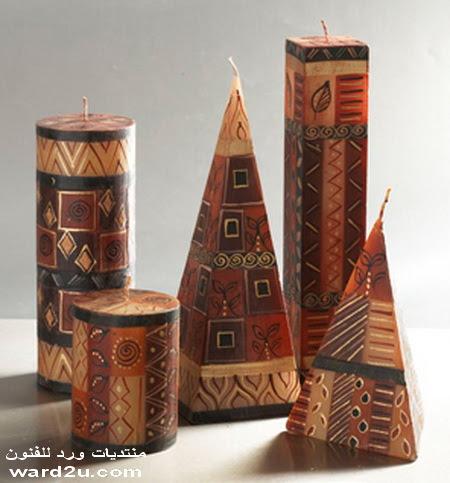 شموع فنيه بنقوش افريقيه