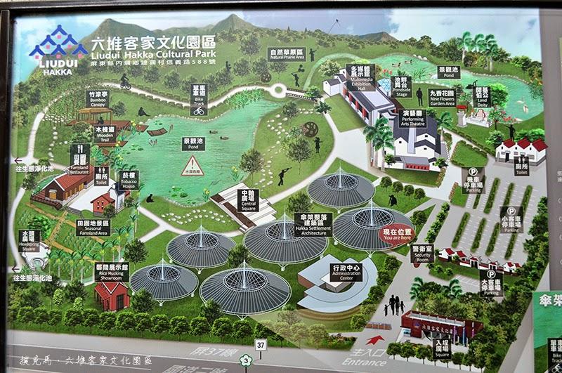 六堆客家文化園區的平面導覽圖