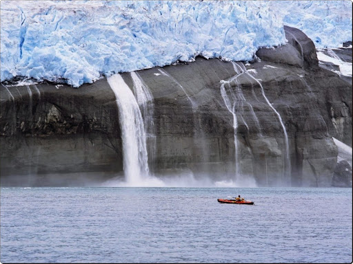 Kayaker and Hanging Glaciers, Icy Bay, Alaska.jpg