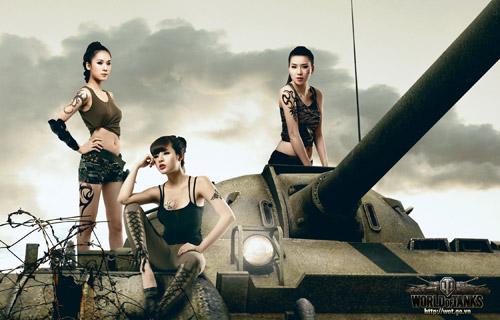 Siêu mẫu Thái Hà gợi cảm trong bộ ảnh World of Tanks 5