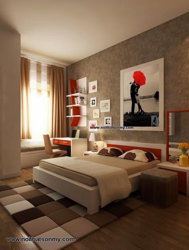 Thiết kế nội thất phòng ngủ vừa