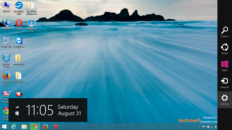 Charms Bar in Win 8.1
