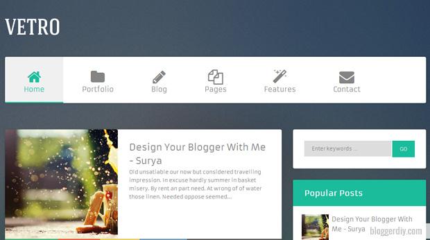 Vetro Blogger template