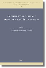 [Durand et al.: La Faute et sa punition dans les Sociétés Orientales]
