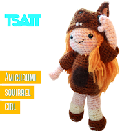 Amigurumi Squirrel Girl