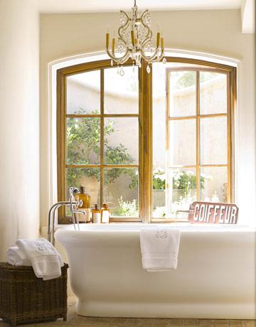 Chandelier light fixture white bathroom rustic charm lantern glass globes contemporary modern - Make bathroom shine ...