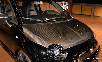 Fiat 500 Abarth carbon fiber hood