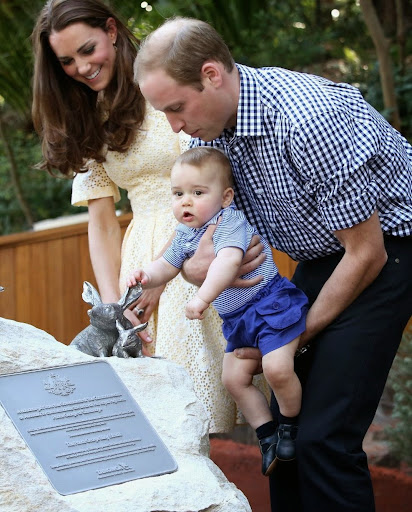 Prince George Kate Middleton Prince william at Taronga zoo photo chris Jackson.jpg