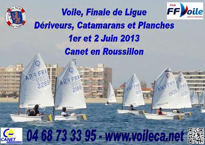 voile régate compétition ligue dériveur planche catamaran 2013