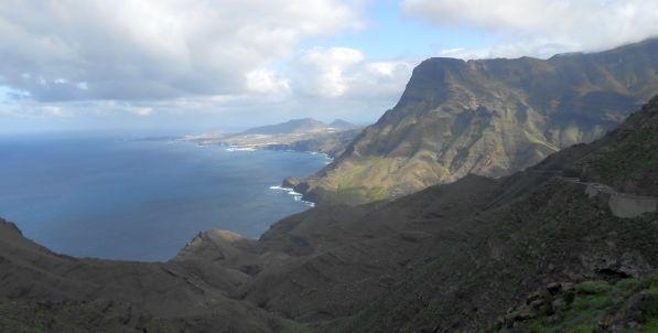 Straße zwischen La Aldea de San Nicolas de Tolentino und Agaete, Gran Canaria