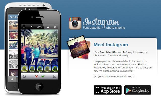 Berbagi foto menggunakan Instagram