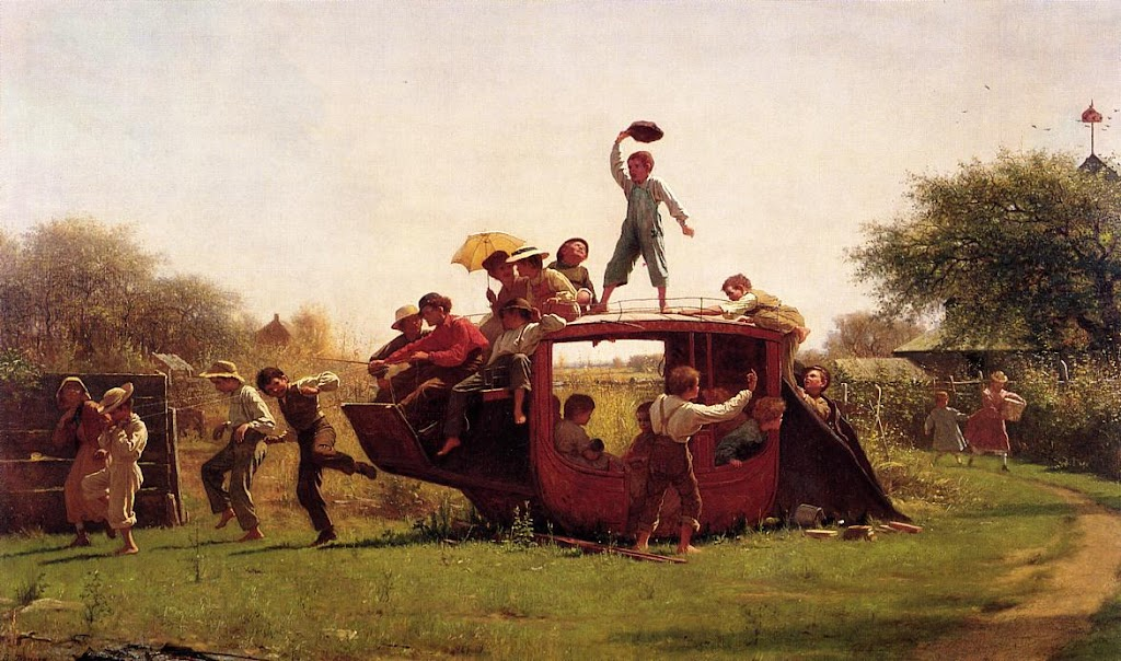 Eastman Johnson - The Old Stage Coach
