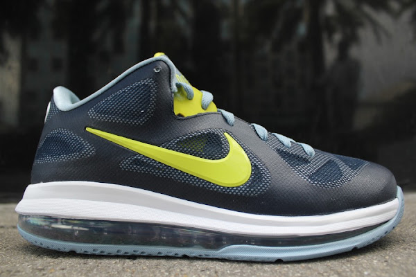 Detailed Look at Nike LeBron 9 Low 8220Obsidian  Cyber  Blue Grey8221