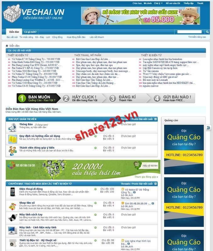 Share full code Forum vbb đẹp chuẩn và chuyên nghiệp
