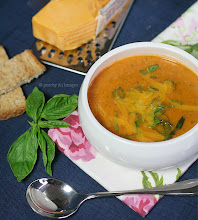 Thumbnail image for Tomato, Basil and Cheddar Soup