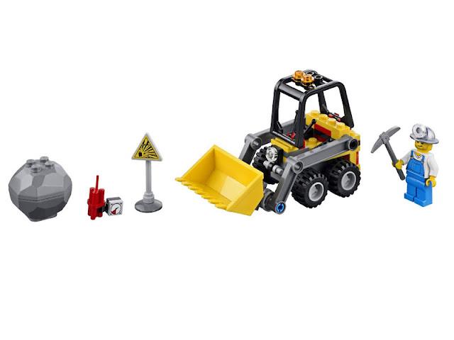レゴ シティ ゴールドマイナー ダンプカーとローダー 4201