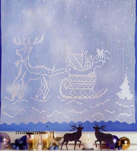 cortinas tejidas navideñas 1117563680844