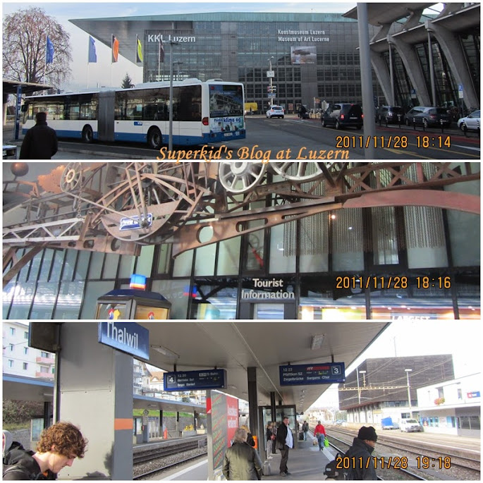 琉森火車站旁的博物館、旅遊服務中心,下面這張照片則是另一座城市Thalwil的火車站月台,沒地方放只好偷渡在這裡。XD