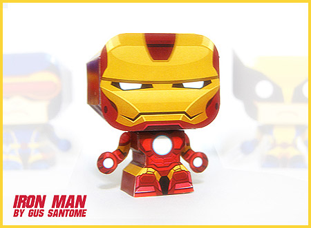 Mini Iron Man Paper Toy