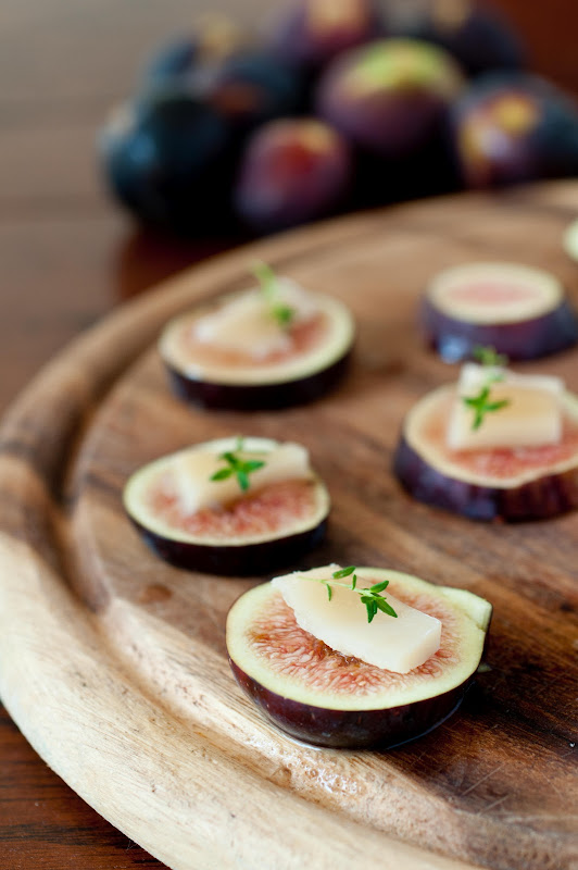 figs and honey goat cheese