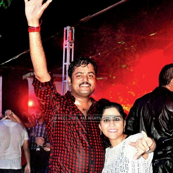 Rajesh and Jyoti during a rain dance party in Kanpur.