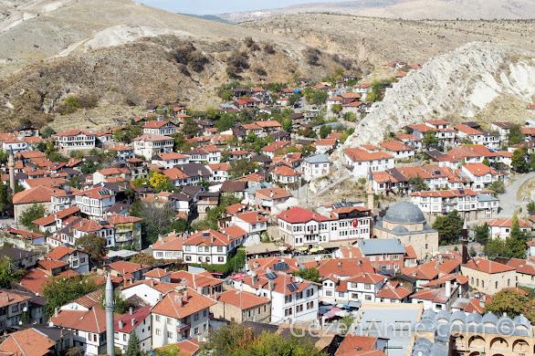 Ankaranın tarihi ilçesi Beypazarı manzarası