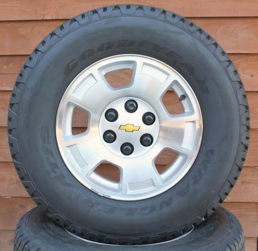 "New 2012 Chevy Silverado Tahoe Suburban Avalanche 17"" Wheels Goodyear Tires"