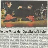 Zeitungsartikel aus der WR