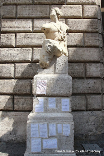 statua pasquino, pasquino parlante, statua parlante, statua parlante roma