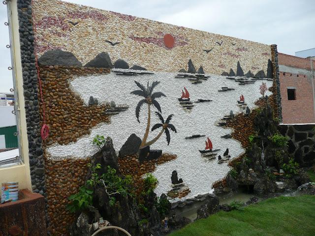 Làm tranh đá ốp tường - hòn non bộ đẹp - tiểu cảnh sân vườn đẹp