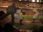 Scotty approves of the mural at the Diner