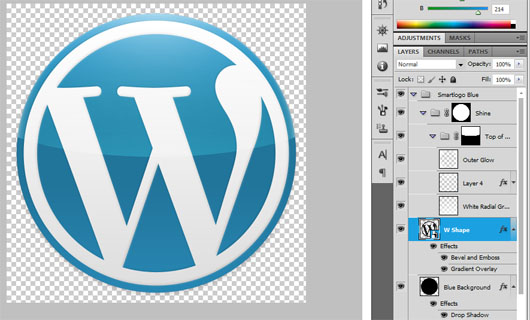 WordPress logo download psd