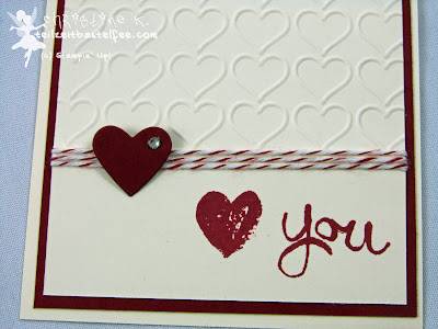 Stampin' Up! - In{k}spire_me #184, Valentine, Valentinstag, Work of Art, Liebe, Love, Framelits Heart Collection,Prägeform Herzen, Embossing Folder Happy Heart