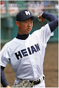 公式戦初登板した期待の一年生投手・元氏選手(写真は西城陽戦から)