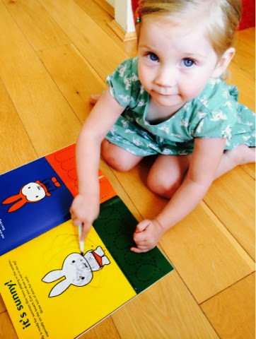 Maegan Clement reading Miffy Draws