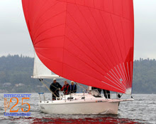 J/105 Dulcinea sailing off Seattle